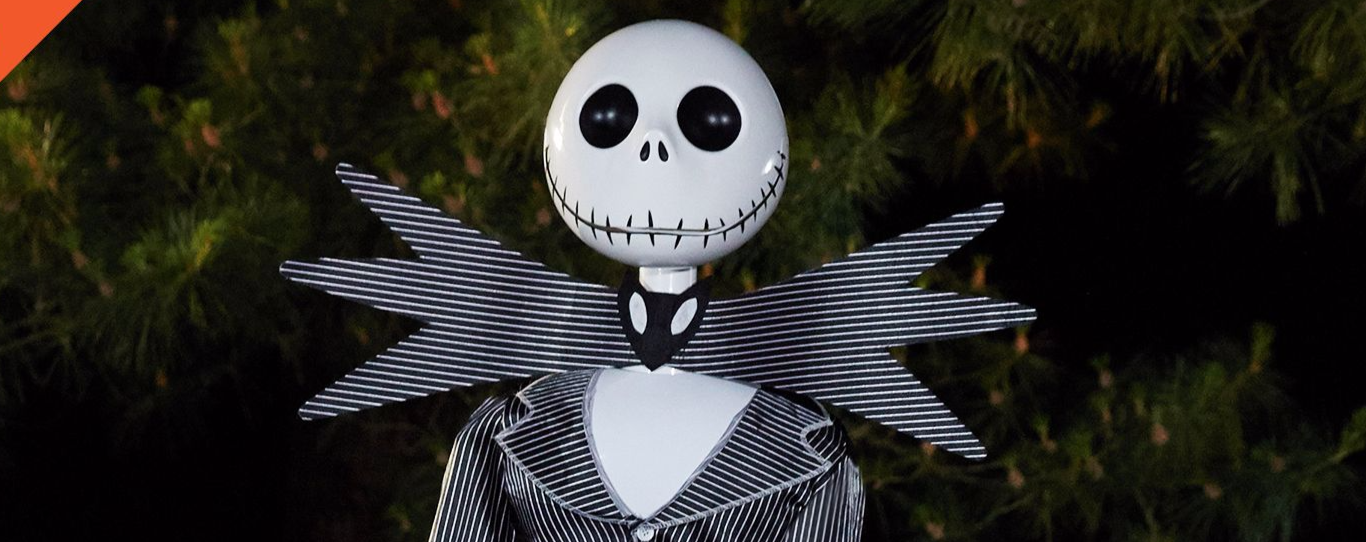 Life size jack skellington animatronic decoration unveiled - Jack skellington decorations halloween ...