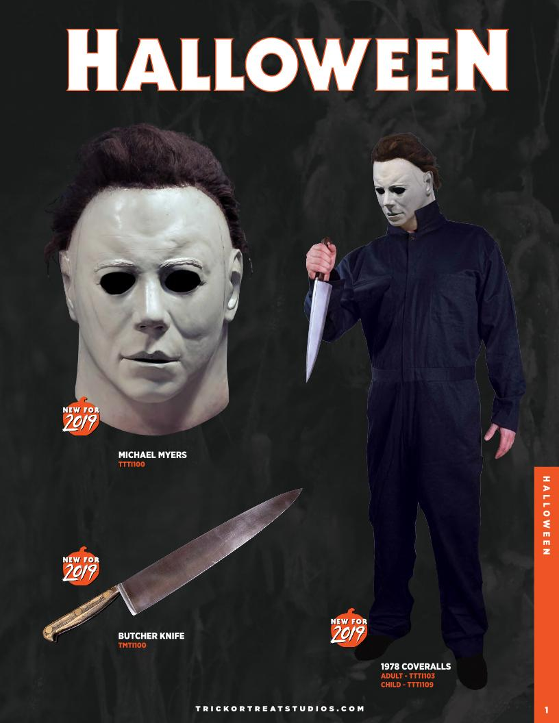 Halloween 2018 Michael Myers Knife.New For 2019 Halloween Masks From Trick Or Treat Studios Revealed